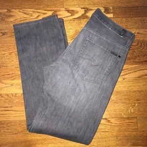 7famk Carsen gray denim jeans size 33 x 32